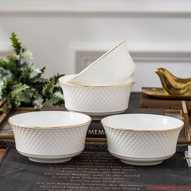 Jingdezhen ceramic tableware to use suit European up phnom penh household ceramics creative rainbow such as bowl beef rainbow such use