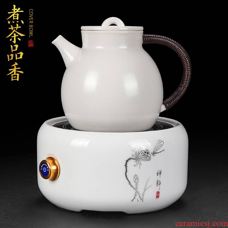 Artisan ceramic cooking pot fairy large capacity make tea kettle household heating boiling tea, kungfu tea sets automatically