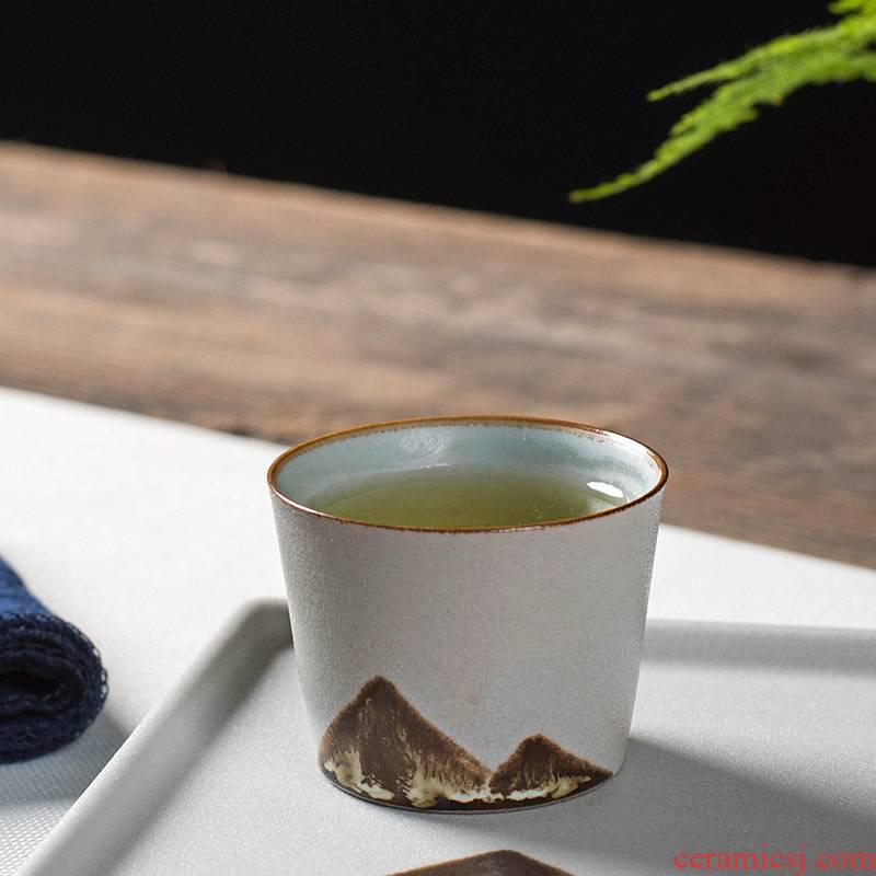 Creative coarse pottery teacup move variable kung fu tea/single cup sample tea cup tea cup ceramics