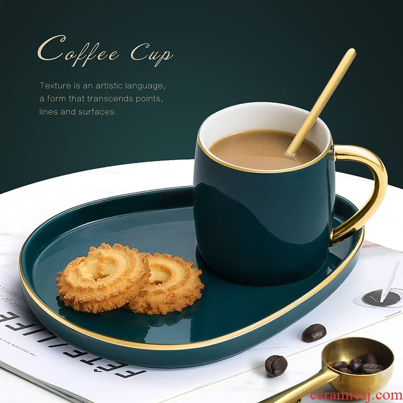 Hk xin rui mark cup of milk for breakfast a cup of coffee cup ceramic keller with spoon, creative move fashion lovers
