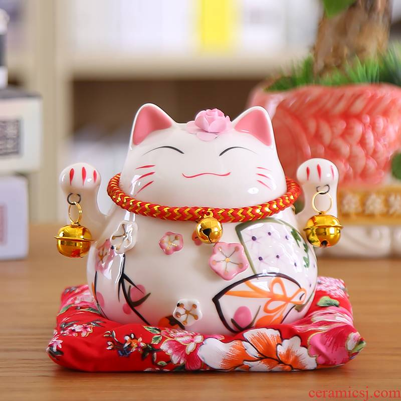 Plutus cat small place to open small ceramic piggy bank desk creative household furnishing articles fortune cat