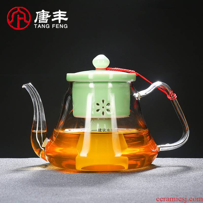 Tang Feng heat - resistant glass teapot single pot of tea pot of tea to steam boiling tea, black tea electric cooking pot