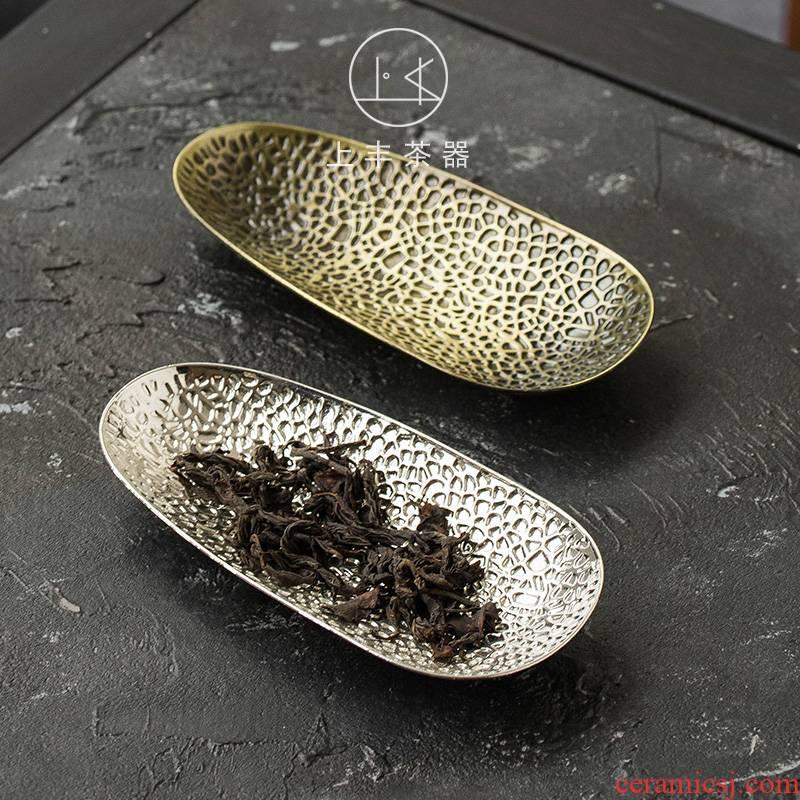 On an abundant tea is tea holder tea accessories copper tea is tea accessories pure hand - made tea tea holder is copper