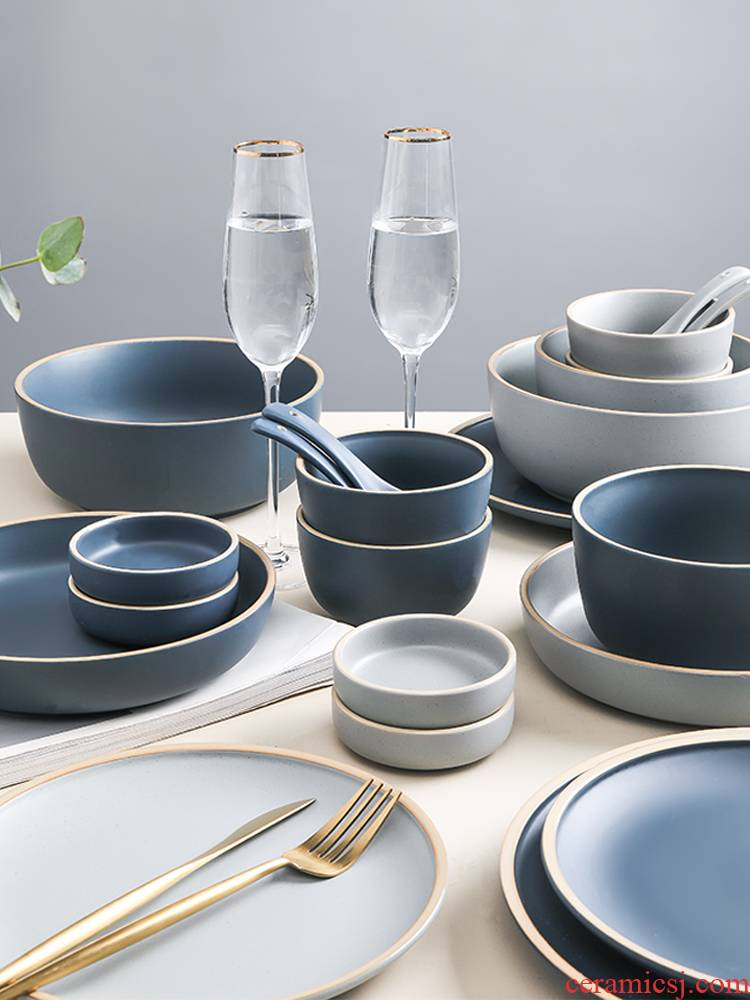 Scene for the Nordic tableware suit contracted web celebrity tableware ins suit creative Japanese dishes suit with 2 people