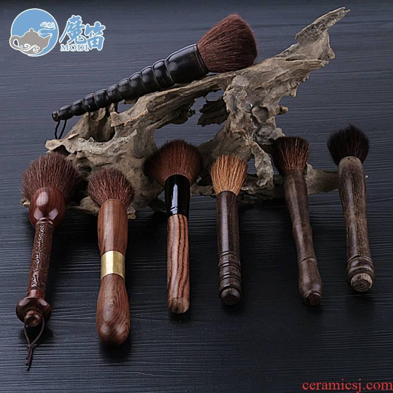 The flute sweep brushes YangHuBi kung fu tea tea tea pen brush tea set with zero out MAO hua limu tea tray