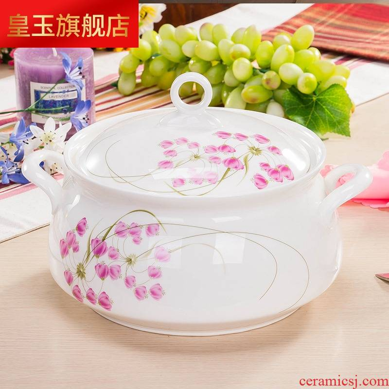5 hj cutlery sets jingdezhen porcelain surface ipads soup bowl 56 head Korean contracted to use plate combination dishes suit