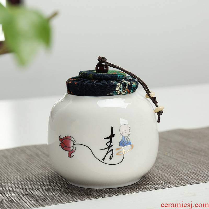 The Caddy fixings small portable portable mini travel home ceramic seal storage tanks POTS of tea packaging