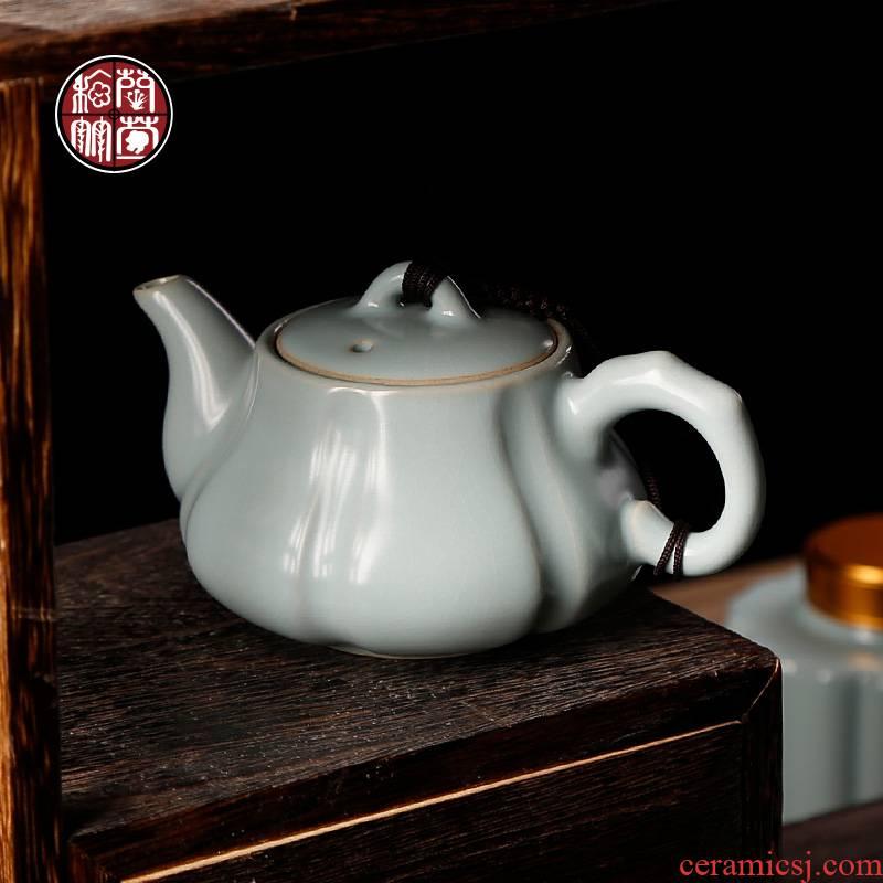 By patterns your up pumpkin pot home day cyan ceramic one little teapot tea service office single pot of tea