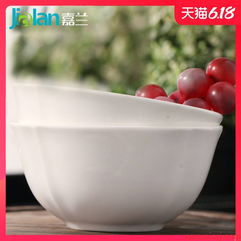 Jia LanChun bare-bones bowls of household jobs soup bowl rainbow such use creative contracted porcelain tableware can be custom - made LOGO