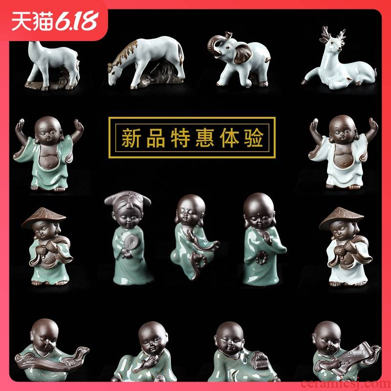 Brother creative ceramic up your up characters tea pet flowers familiar furnishing articles zen animals onboard water fittings bag in the mail
