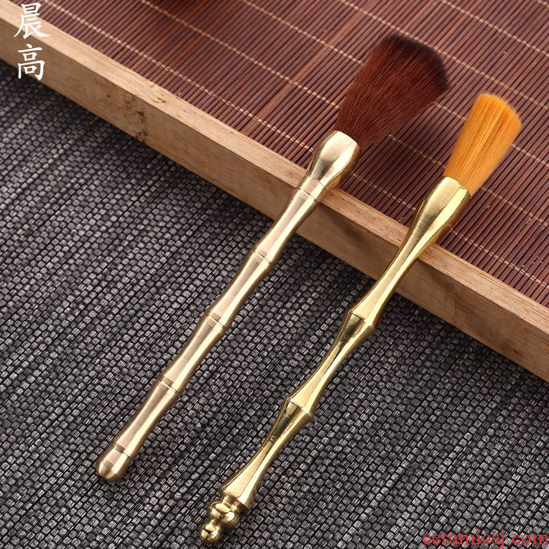 Morning high sweep YangHuBi tea tea brush pen pen brush brush brush hua limu ebony ground water quality tea tool