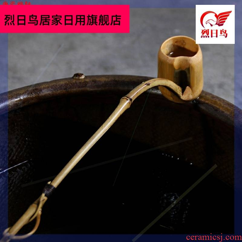 Bamboo tea run large ShuiYaoZi zero water Bamboo Bamboo ladle long handle ladle tea spoon, water Bamboo tea sets