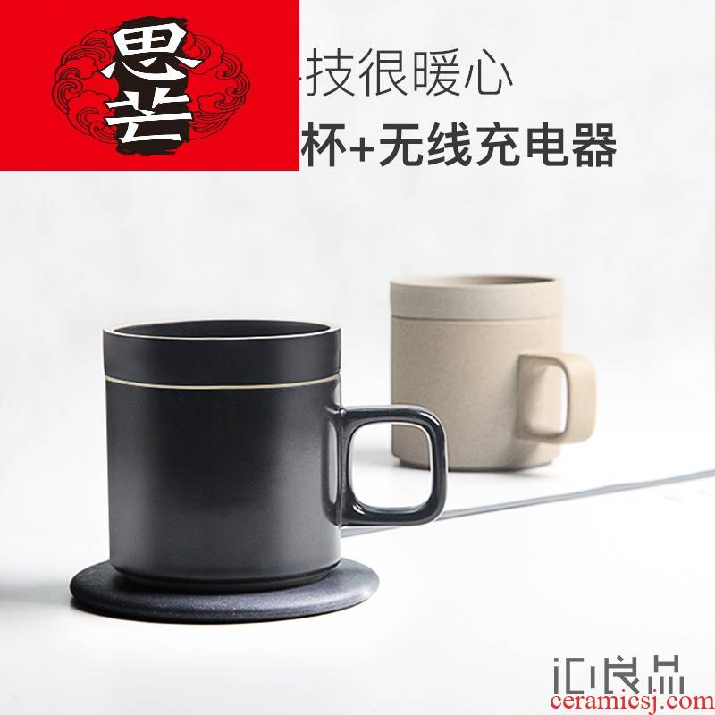 Thinking mans 55 degrees intelligent thermostat mat men 's and women' s birthday present trill creative ceramic coffee cup