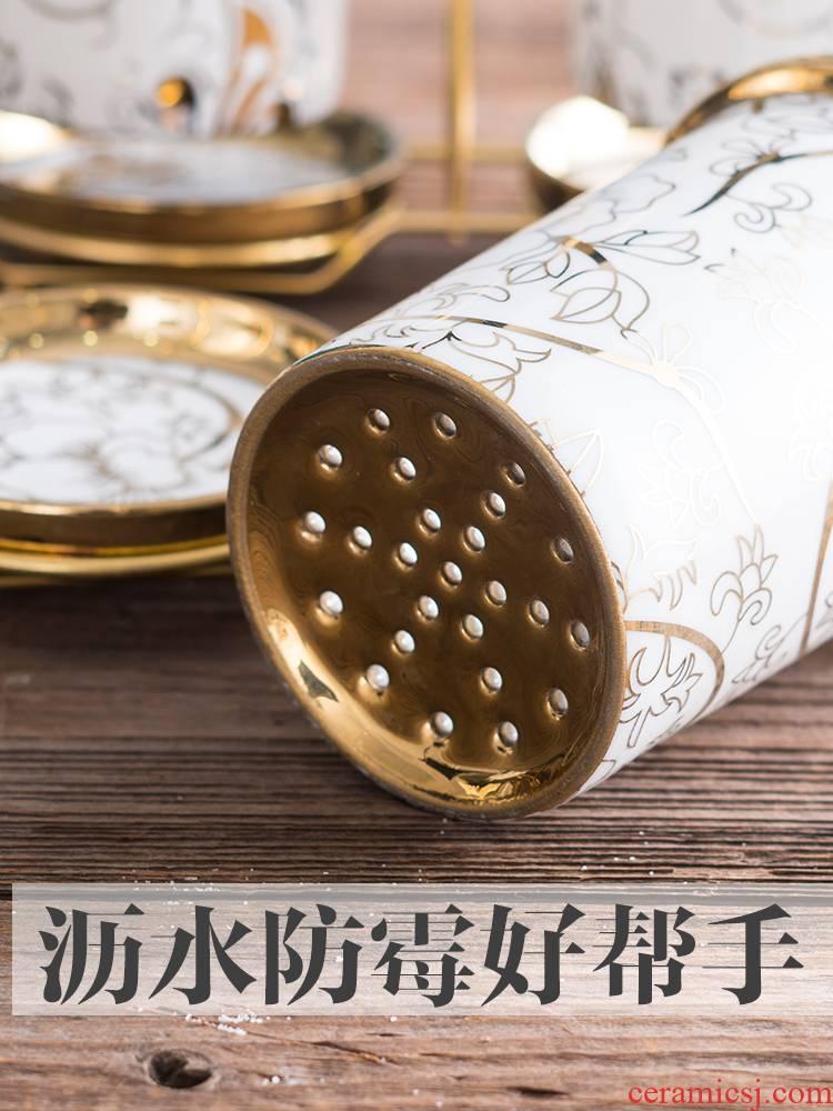 Ceramics, informs creative basket chopsticks chopsticks tube drop box ou receive barrels shelf chopsticks chopsticks cage
