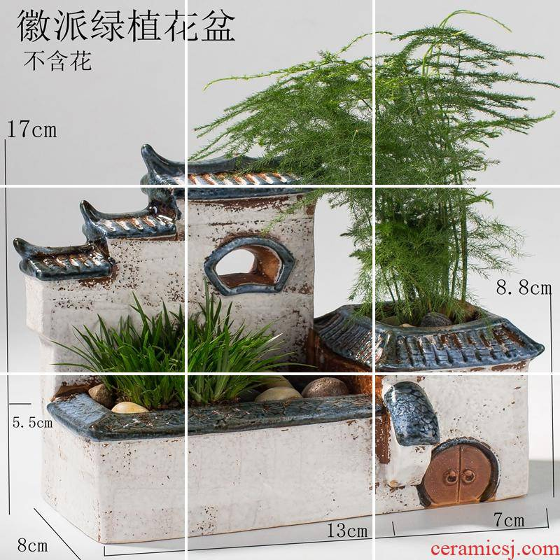 Hanging gardens of I and contracted large asparagus zen home decoration has had gloriously enrolled house furnishing articles old running the flowerpot ceramics