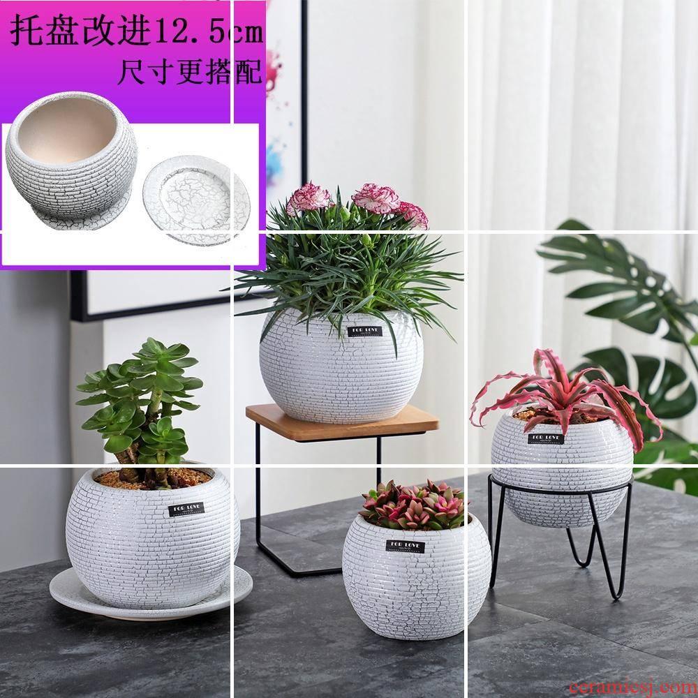 More creative hob anywhere ceramic flower pot wooden flower pot flowerpot More meat platter desktop furnishing articles