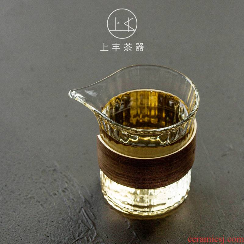 On the an abundant glass filter points fair keller of tea tea sea more transparent heat - resistant household bamboo set of tea and a cup of tea