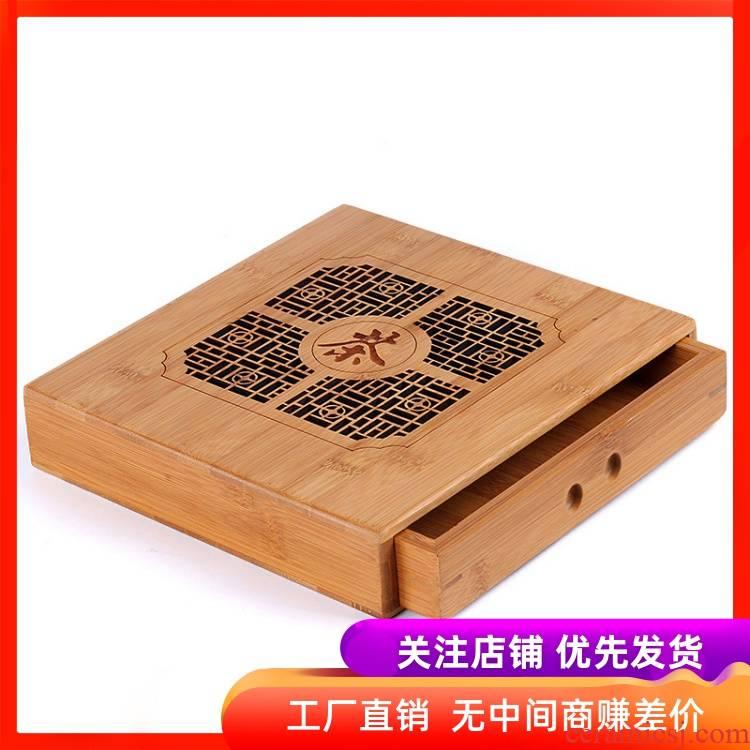 Puer tea tea tray tea tray by bamboo tea tray to admire the tea tray ChaZhen tea tea accessories tea cake box