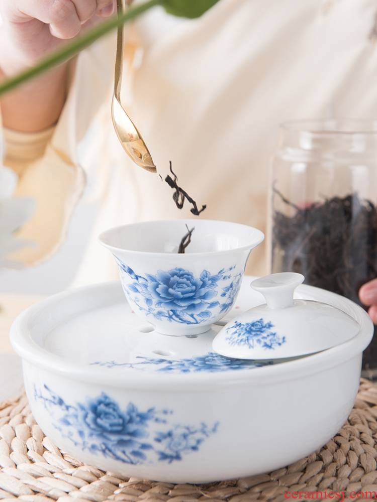T travel ceramic kung fu tea set small tea tray was portable cups the receive bag contracted outdoors travel car tea sets