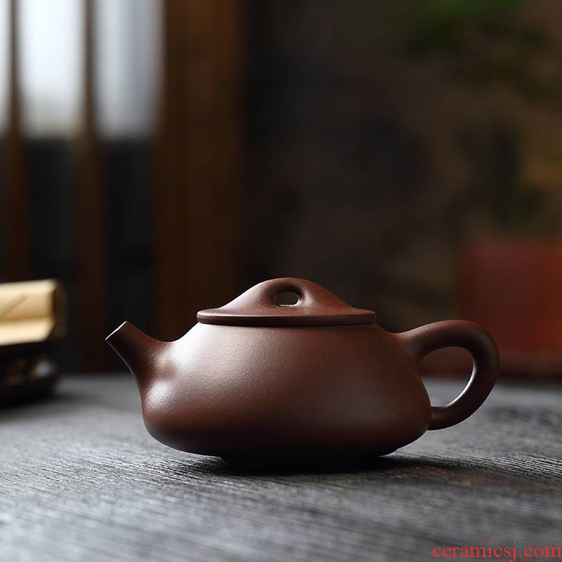 Liu2 xing producer are it undressed ore low trough the qing HaiRong 】 【 pot of classic stone gourd ladle JingZhou checking tea kettle