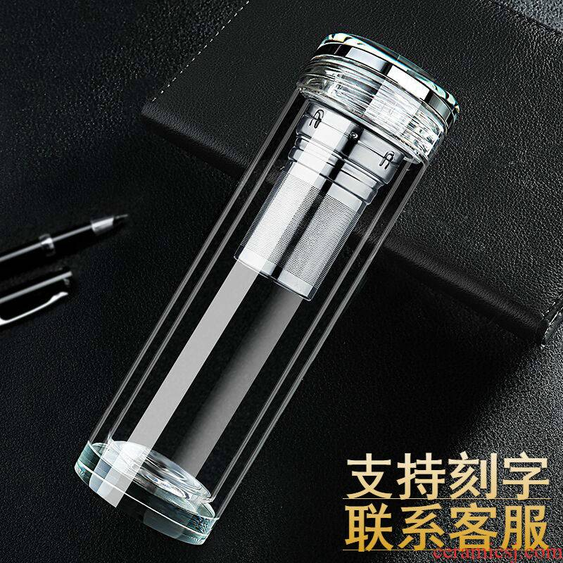 """""""Buy one, get three"""" top grade double micro crystal glass insulation to hold to tropical office car cover cup cup"""