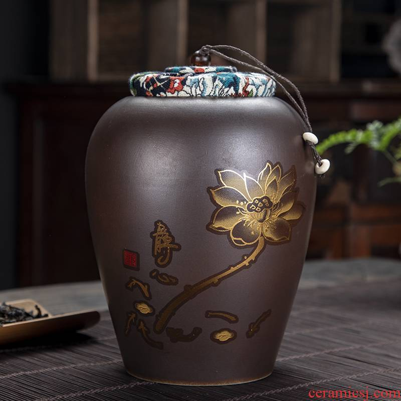 The flute firewood caddy fixings kung fu tea set home puer tea pot seal storage tanks tea accessories
