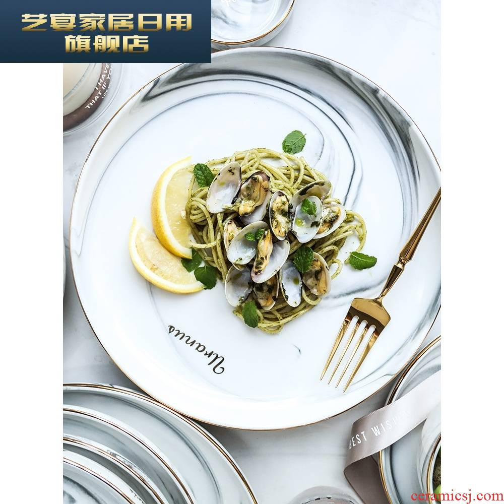 3 wx marble up phnom penh cutlery set 2 dishes home European dishes 4 individuality creative eat bowl chopsticks I