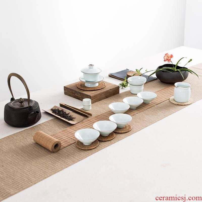 T jingdezhen celadon kung fu tea sets suit ceramic teapot teacup tureen home price package mail gift boxes