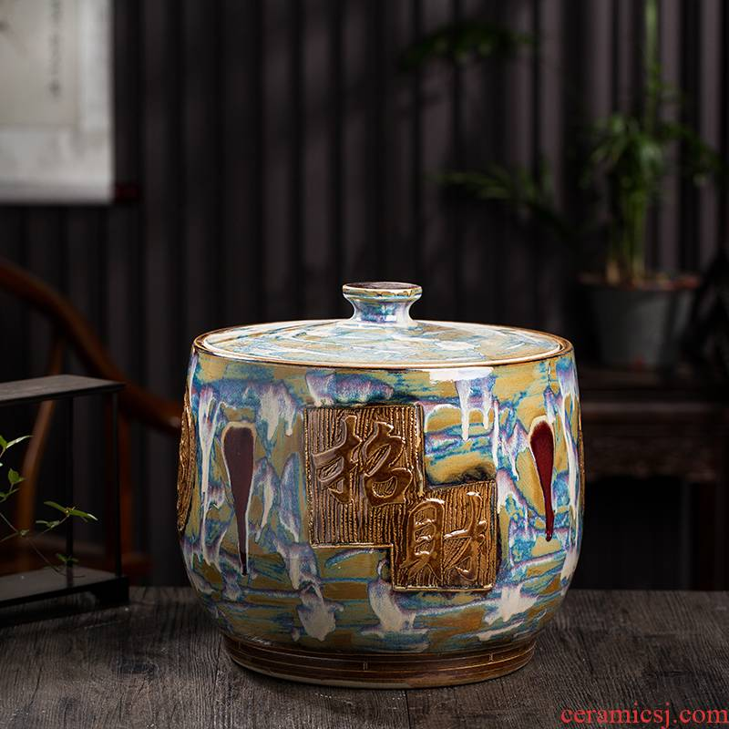 Ricer box barrel jingdezhen ceramic household with cover (50 kg/pack tank caddy fixings sealed as cans
