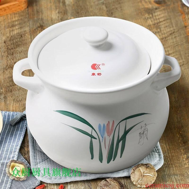 Ceramic casserole stew pot soup pot stew potted soup pot regimen soup can heat 2 l3l4l5l6 flame