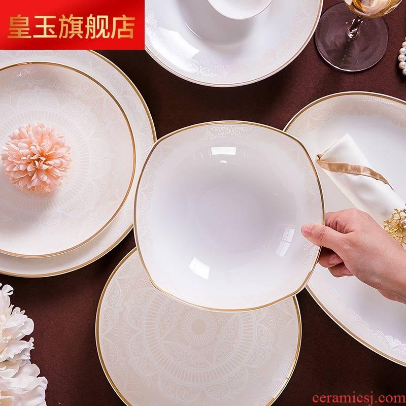 8 PLT European - style ipads bowls disc suit creative web celebrity jingdezhen ceramic tableware suit home dishes