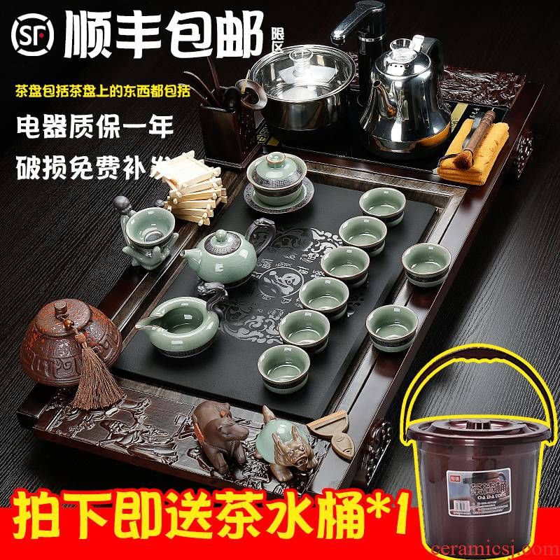 Hai make household contracted the joining together of four automatic tea tray tea glass tea cup of a complete set of kung fu tea set