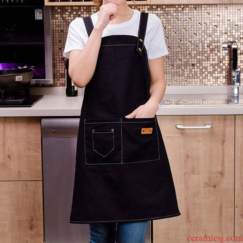 Florist cooking for household work cafe half sleeve cloth apron milk tea oil Korean single adults