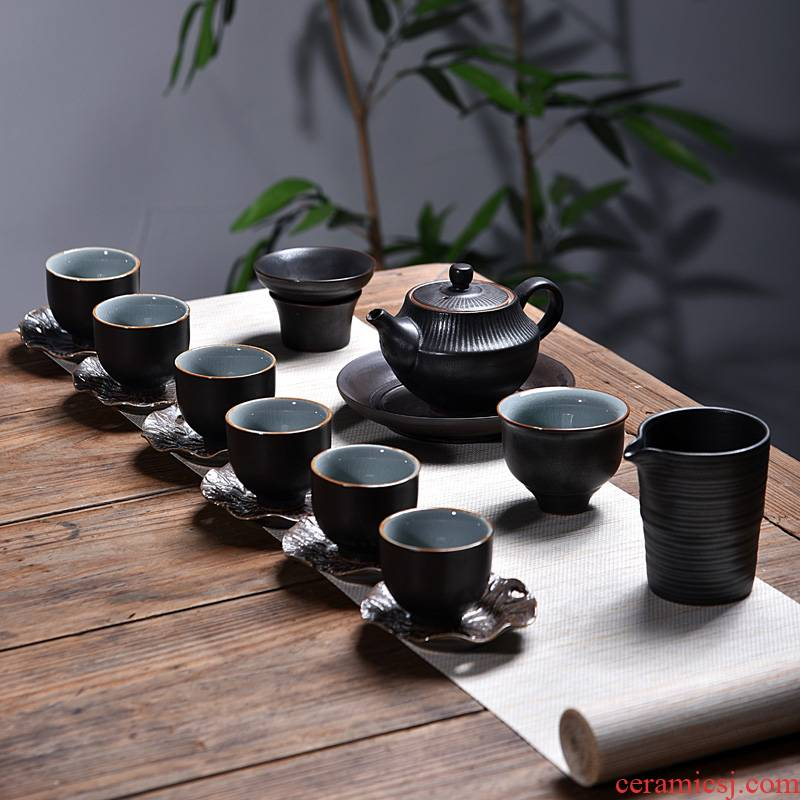 Into this monkey retro teapot teacup gift household ceramics kung fu tea set manual of a complete set of coarse pottery making tea