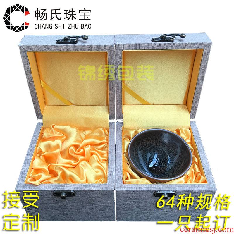 A large wooden linen JinHe collectables - autograph China gift boxes to receive A collection box packing box