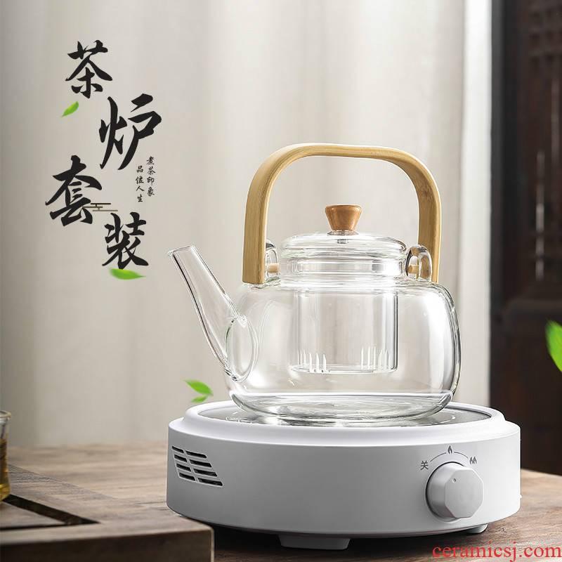 Electric TaoLu black tea kettle boil tea steamer domestic high temperature resistant glass tea kettle.net red suit the teapot