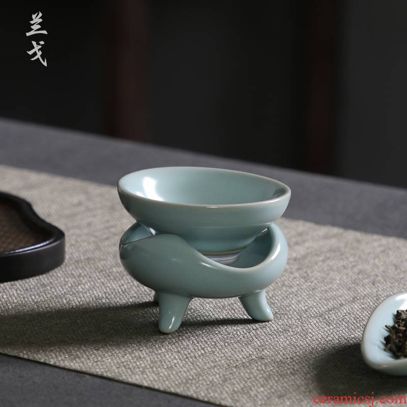 Having your up with azure filtering kung fu tea set to open the slice your porcelain tea tea cups) ceramic tea strainer