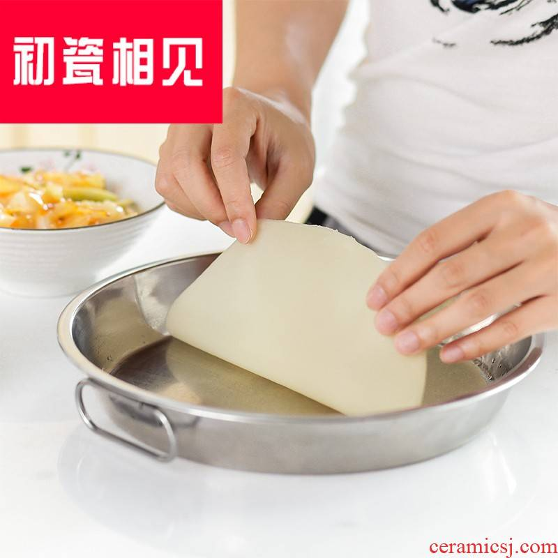Household porcelain meet each other at the beginning of 304 stainless steel steam liangpi plate liangpi gong gong liangpi tool im doing powder surface