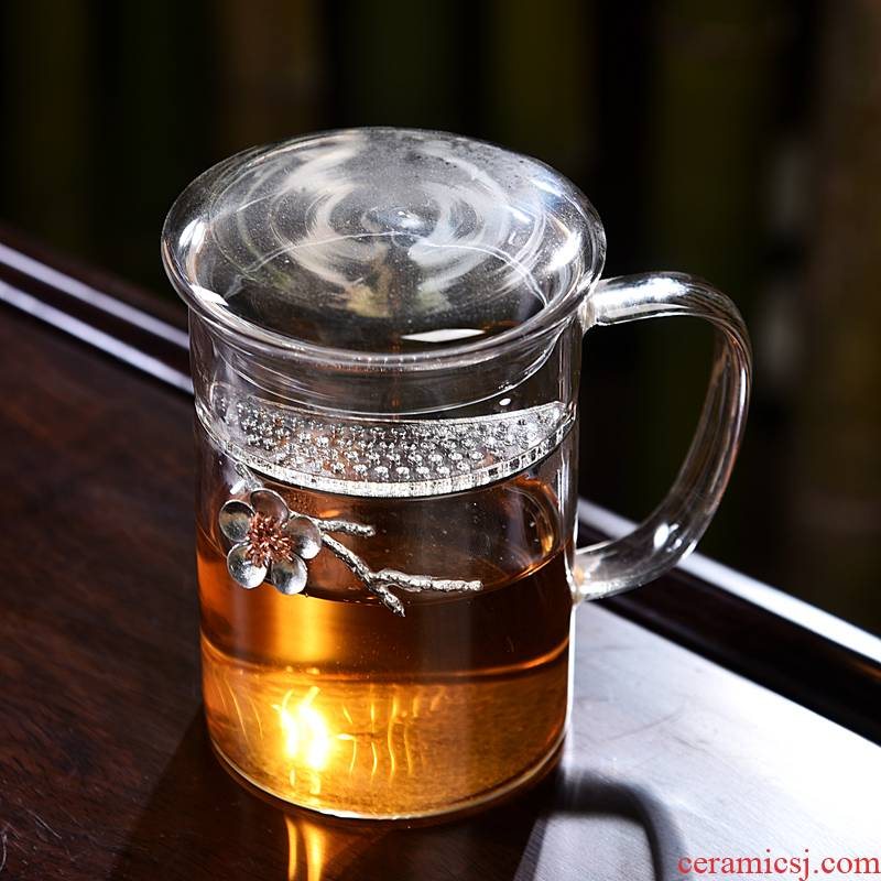 Into this monkey home tea ware heat - resistant glass tea sets with tea, crystal glass tea pot lid lid bowl bowl