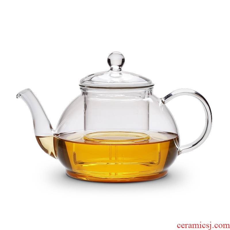 Glass burn blisters teapot high - temperature household use, informs the for induction cooker pot of tea, the tea set