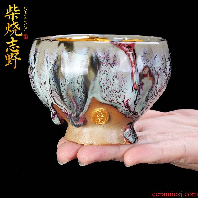 Artisan fairy archaize volunteers wild wood gold household checking ceramic cups kung fu tea master cup single CPU