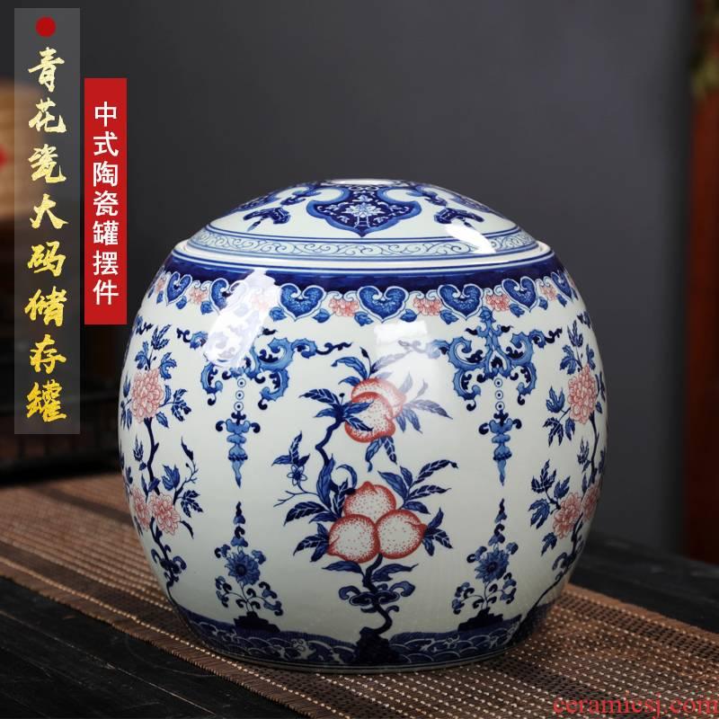 Jingdezhen porcelain youligong archaize ceramic tea pot large with cover pu - erh tea store receives household receives