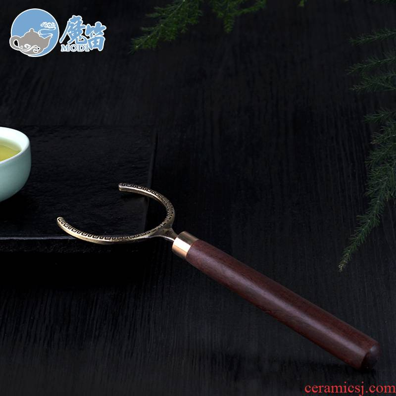 The flute ebony fork fork kung fu tea cups real wood The hot tea saucer cup health fork tea accessories