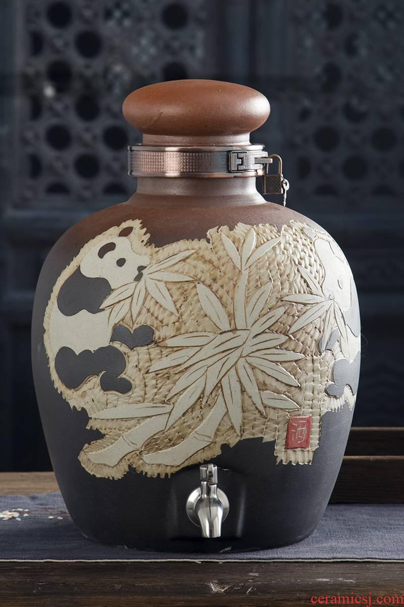 Jingdezhen ceramic jars bottle 10 jins 20 jins 30 jins 50 jins seal pot mercifully jars liquor altar archaize jars