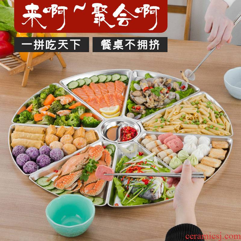 Scene best seafood platter tableware portfolio household circular plate of fan set web celebrity trill reunion round plate
