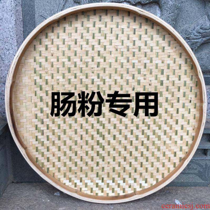 Dries adornment small bamboo dustpan bamboo has steamed steamed vermicelli roll round bamboo round dustpan large bamboo basket tea tray