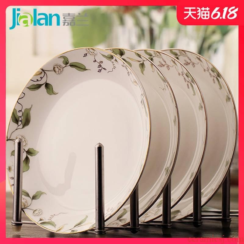 "Garland family practical ipads porcelain dish plate suit western food steak dish 8 ""dumpling dish soup plate deep dish"
