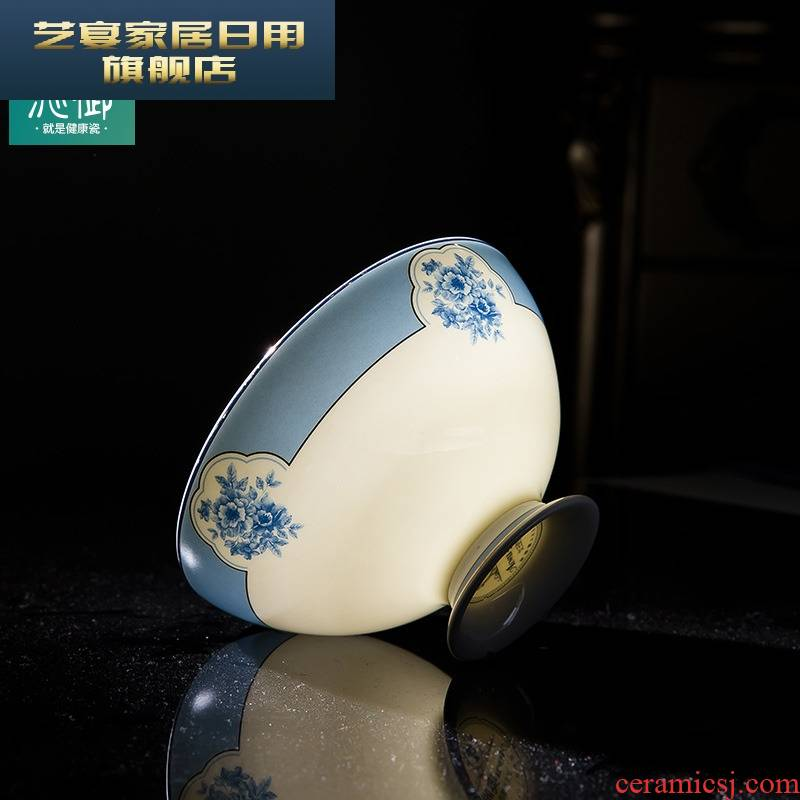 4 y dishes suit household jingdezhen blue and white porcelain tableware new ipads China to eat rice bowl consolidation set of chopsticks combination