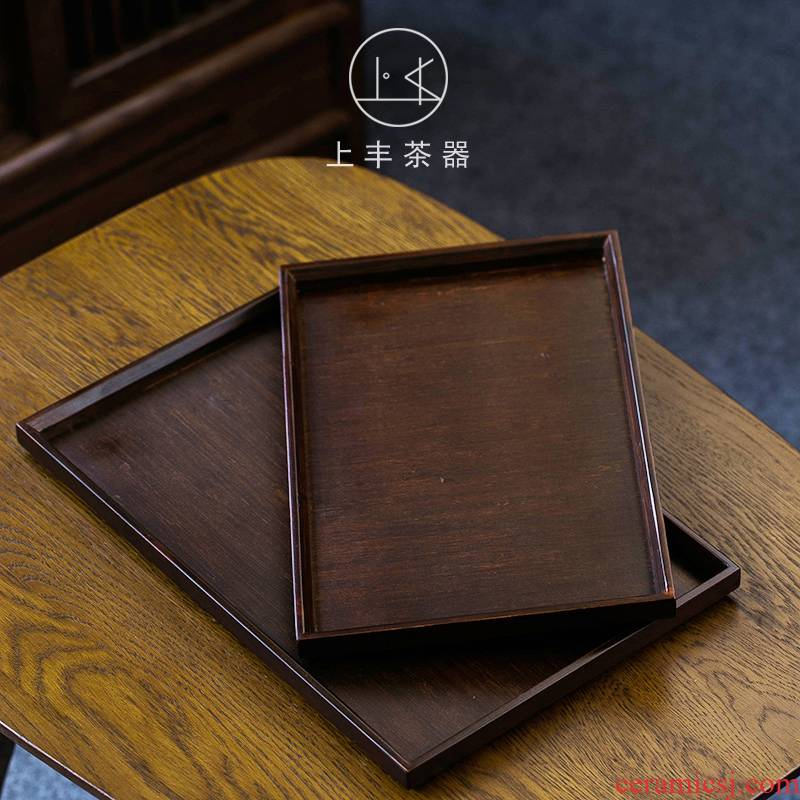 An Abundant bamboo tea tray on household rectangle tea saucer sets wooden pallet wood for contracted Japanese bamboo tea tray
