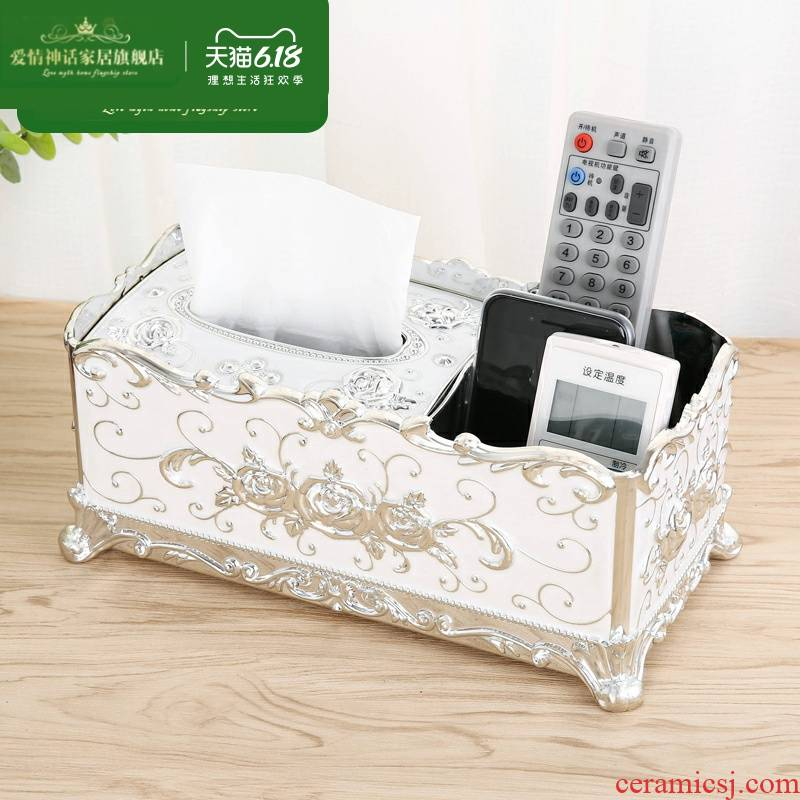 Pick a carton European - style tissues contracted sitting room multifunctional paper Nordic tea table, creative home remote receive a case